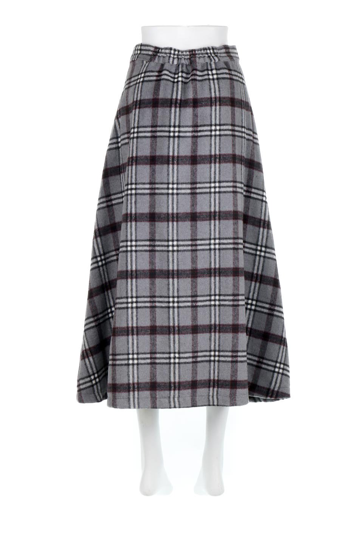 CheckPatternedA-LineLongSkirtAライン・チェックロングスカート大人カジュアルに最適な海外ファッションのothers(その他インポートアイテム)のボトムやスカート。合わせやすさ抜群のチェック柄ロングスカート。表面が起毛した温もりのある生地を使用した季節感のあるスカート。/main-19