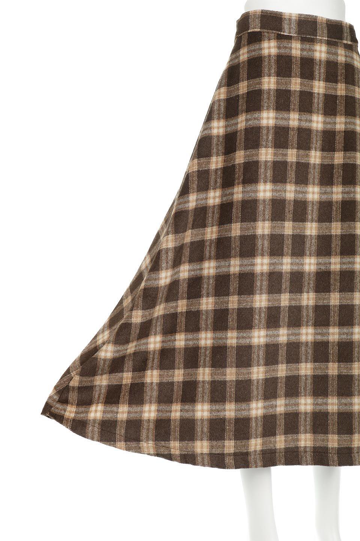 CheckPatternedA-LineLongSkirtAライン・チェックロングスカート大人カジュアルに最適な海外ファッションのothers(その他インポートアイテム)のボトムやスカート。合わせやすさ抜群のチェック柄ロングスカート。表面が起毛した温もりのある生地を使用した季節感のあるスカート。/main-21