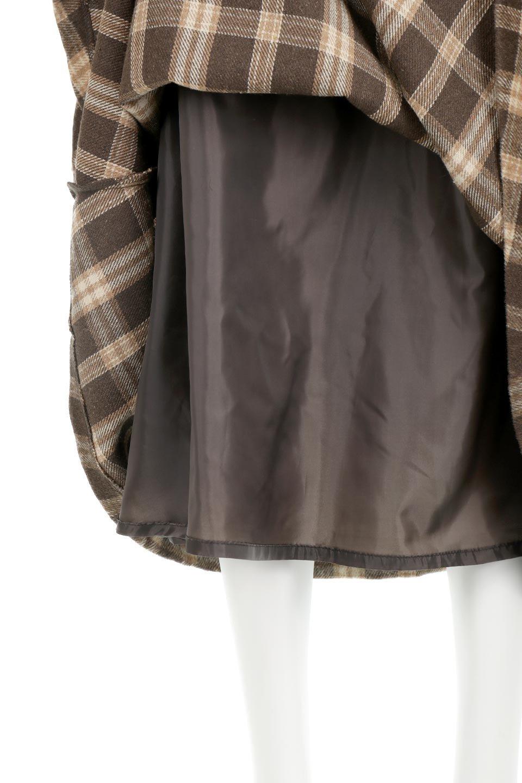 CheckPatternedA-LineLongSkirtAライン・チェックロングスカート大人カジュアルに最適な海外ファッションのothers(その他インポートアイテム)のボトムやスカート。合わせやすさ抜群のチェック柄ロングスカート。表面が起毛した温もりのある生地を使用した季節感のあるスカート。/main-26