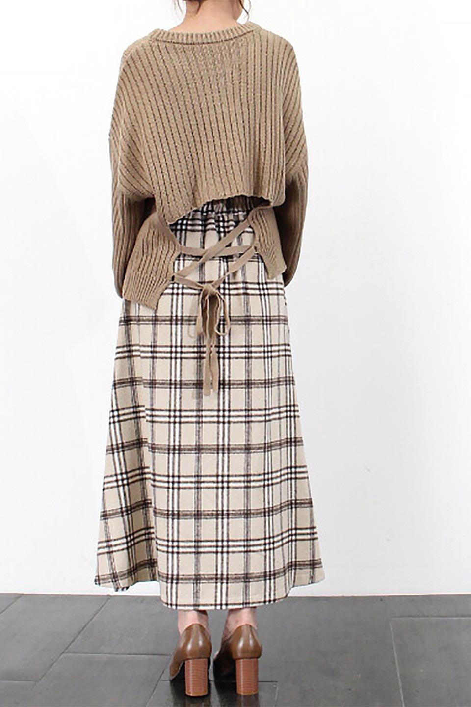 CheckPatternedA-LineLongSkirtAライン・チェックロングスカート大人カジュアルに最適な海外ファッションのothers(その他インポートアイテム)のボトムやスカート。合わせやすさ抜群のチェック柄ロングスカート。表面が起毛した温もりのある生地を使用した季節感のあるスカート。/main-28