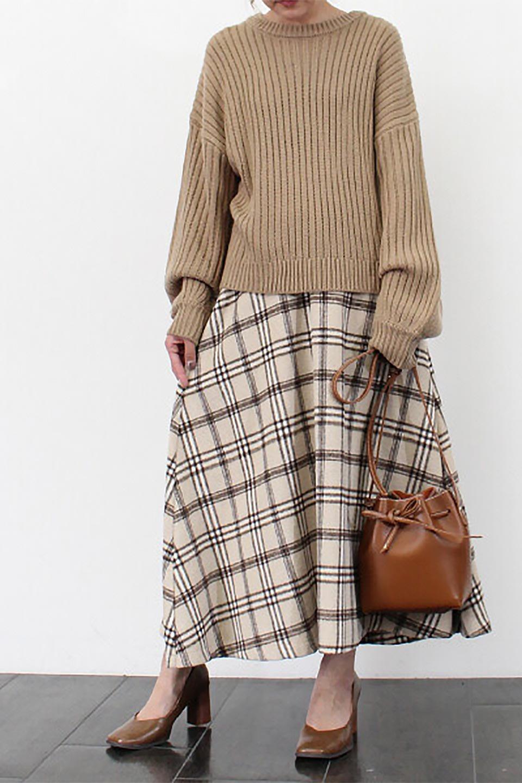 CheckPatternedA-LineLongSkirtAライン・チェックロングスカート大人カジュアルに最適な海外ファッションのothers(その他インポートアイテム)のボトムやスカート。合わせやすさ抜群のチェック柄ロングスカート。表面が起毛した温もりのある生地を使用した季節感のあるスカート。/main-29
