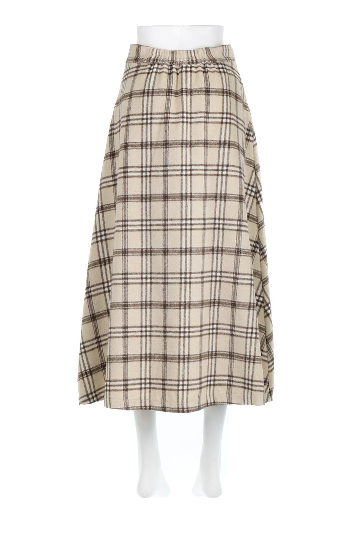 CheckPatternedA-LineLongSkirtAライン・チェックロングスカート大人カジュアルに最適な海外ファッションのothers(その他インポートアイテム)のボトムやスカート。合わせやすさ抜群のチェック柄ロングスカート。表面が起毛した温もりのある生地を使用した季節感のあるスカート。/main-4