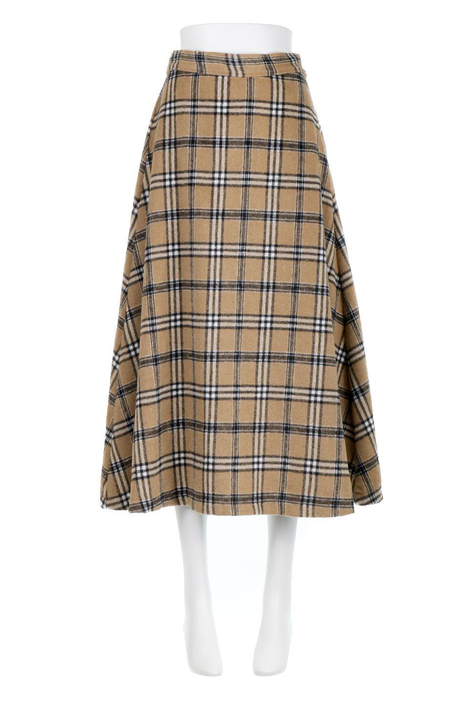 CheckPatternedA-LineLongSkirtAライン・チェックロングスカート大人カジュアルに最適な海外ファッションのothers(その他インポートアイテム)のボトムやスカート。合わせやすさ抜群のチェック柄ロングスカート。表面が起毛した温もりのある生地を使用した季節感のあるスカート。/main-5