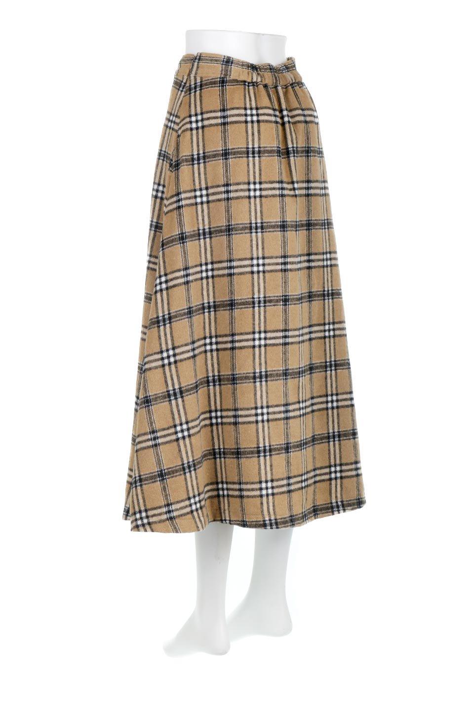 CheckPatternedA-LineLongSkirtAライン・チェックロングスカート大人カジュアルに最適な海外ファッションのothers(その他インポートアイテム)のボトムやスカート。合わせやすさ抜群のチェック柄ロングスカート。表面が起毛した温もりのある生地を使用した季節感のあるスカート。/main-8