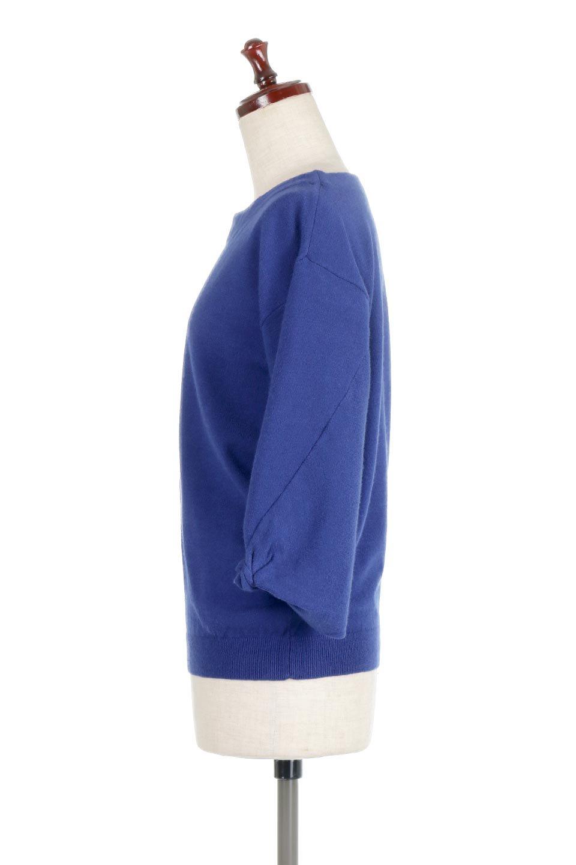 3DTwistSleeveKnitTopツイストスリーブ・ニットトップス大人カジュアルに最適な海外ファッションのothers(その他インポートアイテム)のトップスやニット・セーター。ねじれた袖とモチッと柔か質感が特徴のニットプルオーバー。レーヨン混の糸はチクチクする事無く肌触り◎空きすぎないボートネックの抜け感が上品です。/main-12