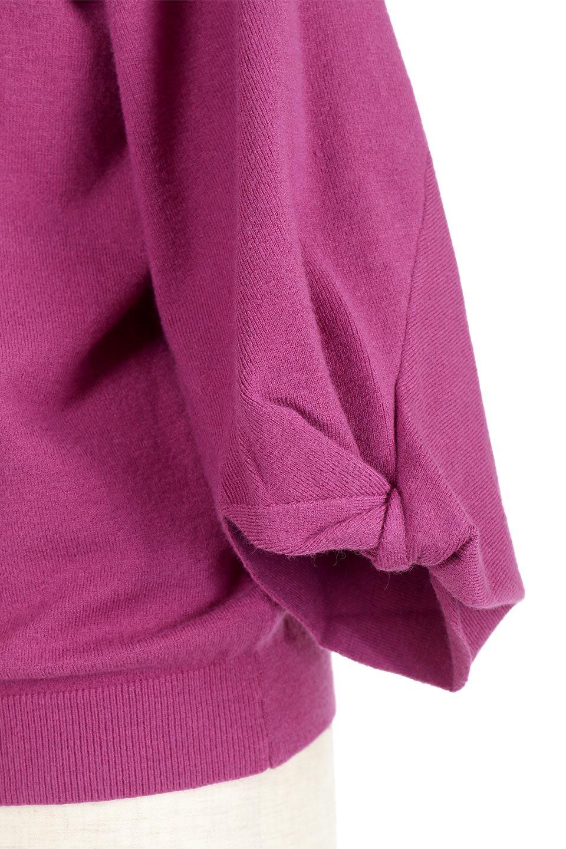 3DTwistSleeveKnitTopツイストスリーブ・ニットトップス大人カジュアルに最適な海外ファッションのothers(その他インポートアイテム)のトップスやニット・セーター。ねじれた袖とモチッと柔か質感が特徴のニットプルオーバー。レーヨン混の糸はチクチクする事無く肌触り◎空きすぎないボートネックの抜け感が上品です。/main-24