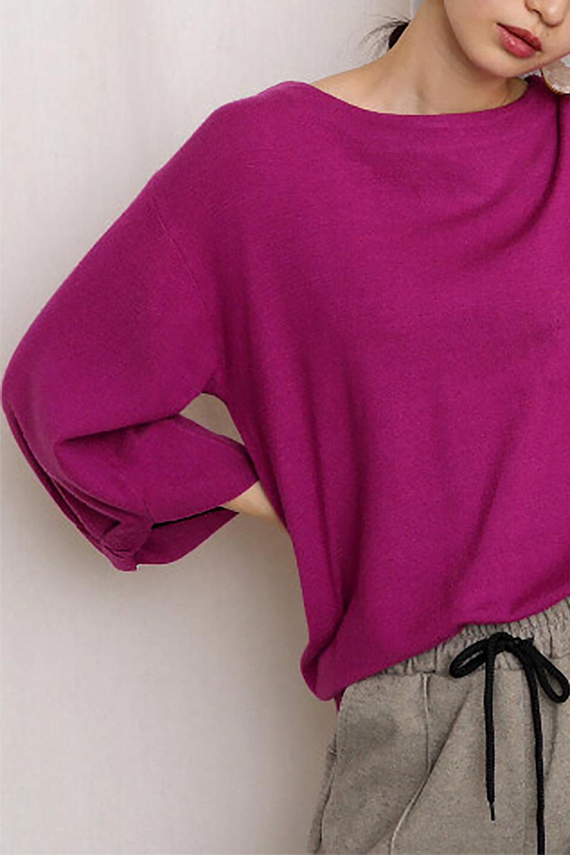3DTwistSleeveKnitTopツイストスリーブ・ニットトップス大人カジュアルに最適な海外ファッションのothers(その他インポートアイテム)のトップスやニット・セーター。ねじれた袖とモチッと柔か質感が特徴のニットプルオーバー。レーヨン混の糸はチクチクする事無く肌触り◎空きすぎないボートネックの抜け感が上品です。/main-29