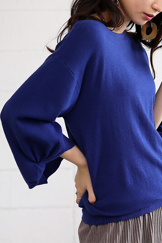 3DTwistSleeveKnitTopツイストスリーブ・ニットトップス大人カジュアルに最適な海外ファッションのothers(その他インポートアイテム)のトップスやニット・セーター。ねじれた袖とモチッと柔か質感が特徴のニットプルオーバー。レーヨン混の糸はチクチクする事無く肌触り◎空きすぎないボートネックの抜け感が上品です。/main-33