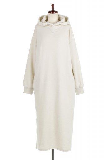 Side Slit Maxi Hoodie Dress サイドスリット・マキシパーカーワンピース / 大人カジュアルに最適な海外ファッションが得意な福島市のセレクトショップbloom