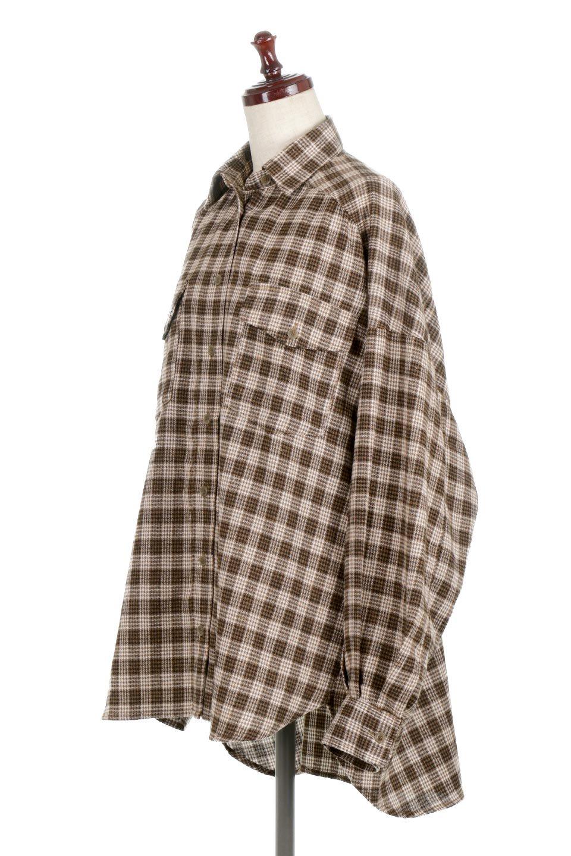 CheckPatternedFlannelBigShirtsチェック柄・ビッグネルシャツ大人カジュアルに最適な海外ファッションのothers(その他インポートアイテム)のトップスやシャツ・ブラウス。シャツジャケットとしても活躍するビッグサイズのネルシャツ。秋に嬉しい生地感とカラーリングで人気の商品です。/main-1