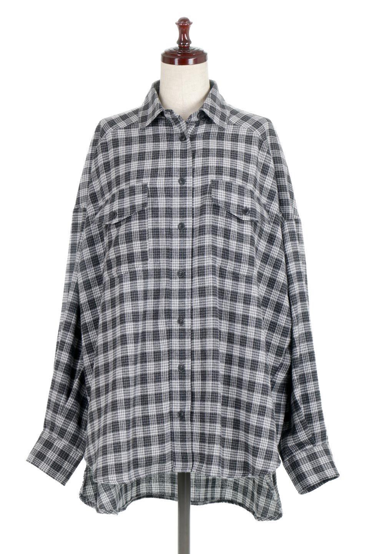 CheckPatternedFlannelBigShirtsチェック柄・ビッグネルシャツ大人カジュアルに最適な海外ファッションのothers(その他インポートアイテム)のトップスやシャツ・ブラウス。シャツジャケットとしても活躍するビッグサイズのネルシャツ。秋に嬉しい生地感とカラーリングで人気の商品です。/main-10