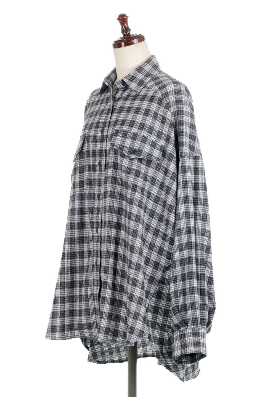 CheckPatternedFlannelBigShirtsチェック柄・ビッグネルシャツ大人カジュアルに最適な海外ファッションのothers(その他インポートアイテム)のトップスやシャツ・ブラウス。シャツジャケットとしても活躍するビッグサイズのネルシャツ。秋に嬉しい生地感とカラーリングで人気の商品です。/main-11