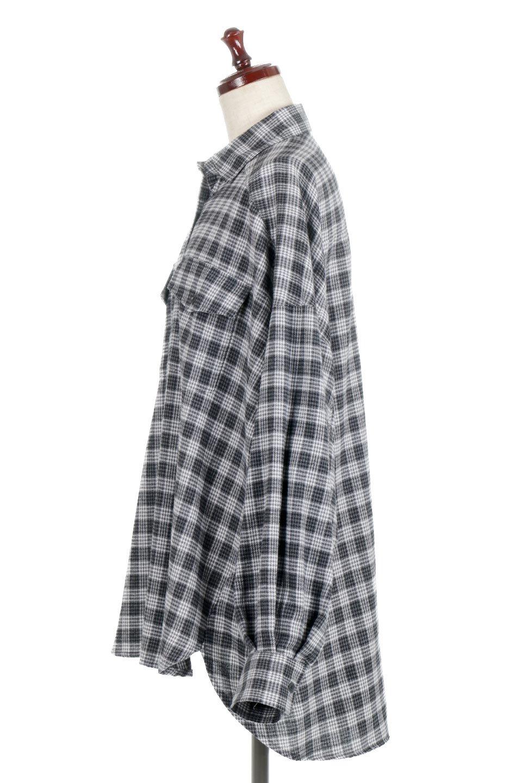 CheckPatternedFlannelBigShirtsチェック柄・ビッグネルシャツ大人カジュアルに最適な海外ファッションのothers(その他インポートアイテム)のトップスやシャツ・ブラウス。シャツジャケットとしても活躍するビッグサイズのネルシャツ。秋に嬉しい生地感とカラーリングで人気の商品です。/main-12