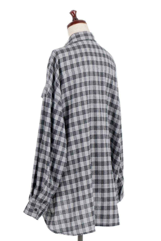 CheckPatternedFlannelBigShirtsチェック柄・ビッグネルシャツ大人カジュアルに最適な海外ファッションのothers(その他インポートアイテム)のトップスやシャツ・ブラウス。シャツジャケットとしても活躍するビッグサイズのネルシャツ。秋に嬉しい生地感とカラーリングで人気の商品です。/main-13