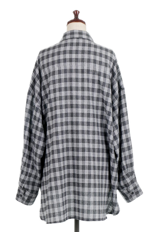 CheckPatternedFlannelBigShirtsチェック柄・ビッグネルシャツ大人カジュアルに最適な海外ファッションのothers(その他インポートアイテム)のトップスやシャツ・ブラウス。シャツジャケットとしても活躍するビッグサイズのネルシャツ。秋に嬉しい生地感とカラーリングで人気の商品です。/main-14