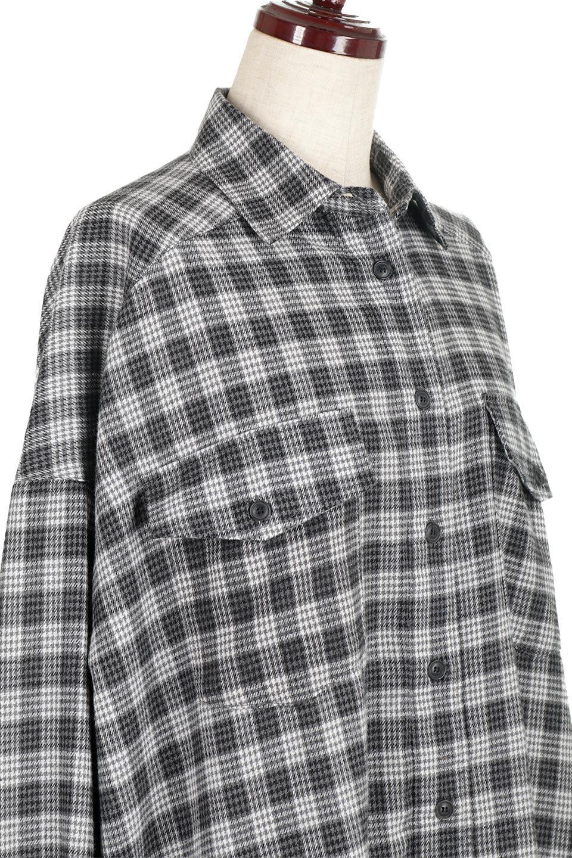 CheckPatternedFlannelBigShirtsチェック柄・ビッグネルシャツ大人カジュアルに最適な海外ファッションのothers(その他インポートアイテム)のトップスやシャツ・ブラウス。シャツジャケットとしても活躍するビッグサイズのネルシャツ。秋に嬉しい生地感とカラーリングで人気の商品です。/main-15