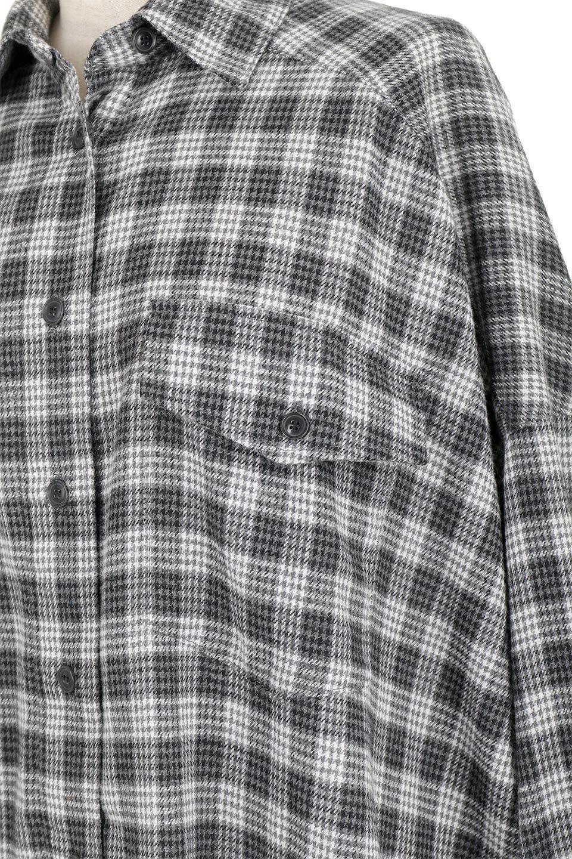 CheckPatternedFlannelBigShirtsチェック柄・ビッグネルシャツ大人カジュアルに最適な海外ファッションのothers(その他インポートアイテム)のトップスやシャツ・ブラウス。シャツジャケットとしても活躍するビッグサイズのネルシャツ。秋に嬉しい生地感とカラーリングで人気の商品です。/main-18
