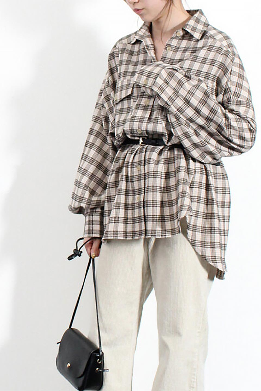 CheckPatternedFlannelBigShirtsチェック柄・ビッグネルシャツ大人カジュアルに最適な海外ファッションのothers(その他インポートアイテム)のトップスやシャツ・ブラウス。シャツジャケットとしても活躍するビッグサイズのネルシャツ。秋に嬉しい生地感とカラーリングで人気の商品です。/main-24