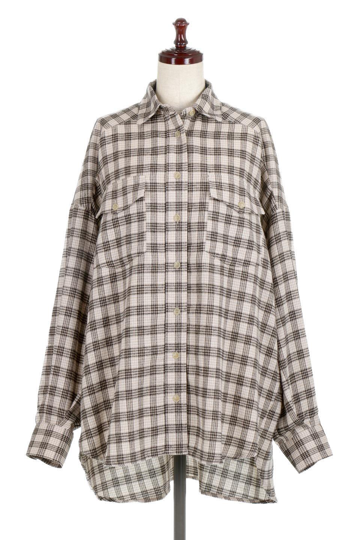 CheckPatternedFlannelBigShirtsチェック柄・ビッグネルシャツ大人カジュアルに最適な海外ファッションのothers(その他インポートアイテム)のトップスやシャツ・ブラウス。シャツジャケットとしても活躍するビッグサイズのネルシャツ。秋に嬉しい生地感とカラーリングで人気の商品です。/main-5