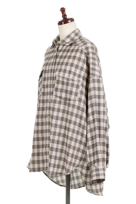 CheckPatternedFlannelBigShirtsチェック柄・ビッグネルシャツ大人カジュアルに最適な海外ファッションのothers(その他インポートアイテム)のトップスやシャツ・ブラウス。シャツジャケットとしても活躍するビッグサイズのネルシャツ。秋に嬉しい生地感とカラーリングで人気の商品です。/main-6