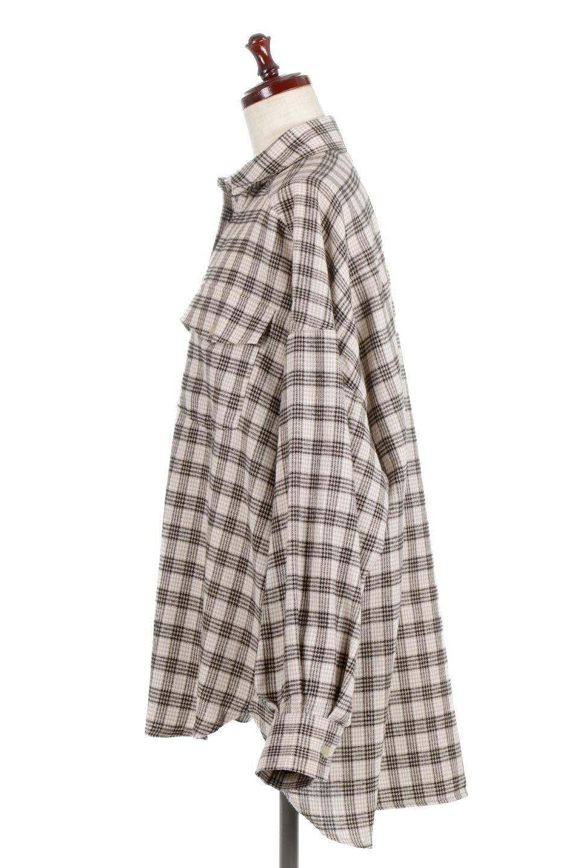 CheckPatternedFlannelBigShirtsチェック柄・ビッグネルシャツ大人カジュアルに最適な海外ファッションのothers(その他インポートアイテム)のトップスやシャツ・ブラウス。シャツジャケットとしても活躍するビッグサイズのネルシャツ。秋に嬉しい生地感とカラーリングで人気の商品です。/main-7