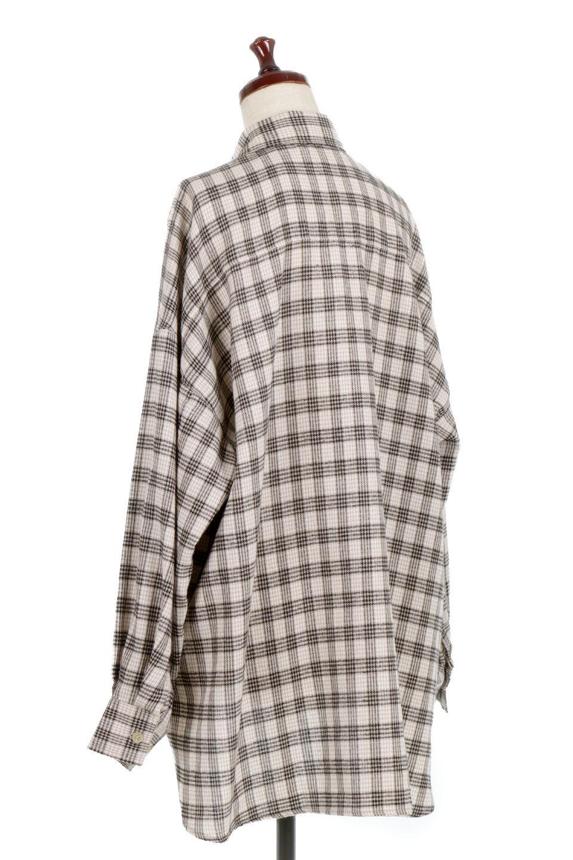 CheckPatternedFlannelBigShirtsチェック柄・ビッグネルシャツ大人カジュアルに最適な海外ファッションのothers(その他インポートアイテム)のトップスやシャツ・ブラウス。シャツジャケットとしても活躍するビッグサイズのネルシャツ。秋に嬉しい生地感とカラーリングで人気の商品です。/main-8