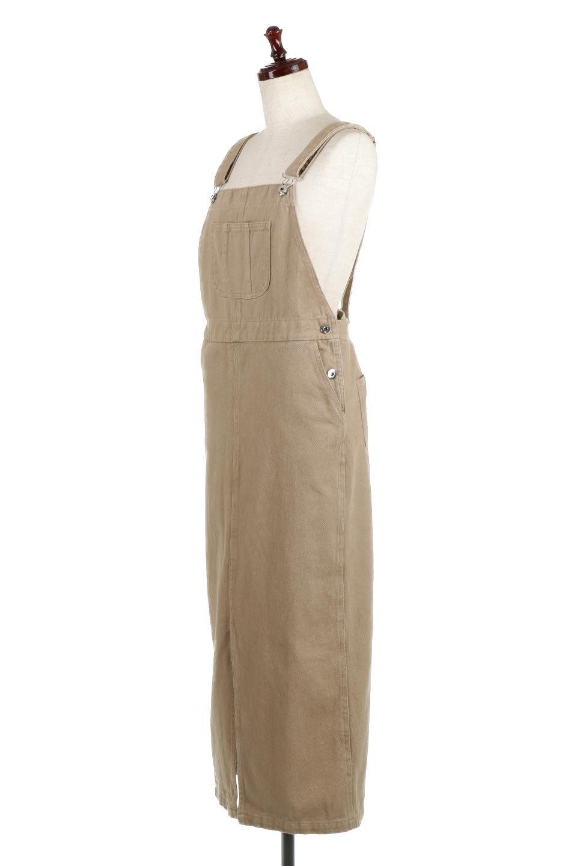 SemiTightJumperDressセミタイト・ジャンパースカート大人カジュアルに最適な海外ファッションのothers(その他インポートアイテム)のワンピースやマキシワンピース。ワークテイストのロング丈ジャンパースカート。セミタイトのシルエットでガーリーになりすぎない大人っぽいコーデが楽しめます。/main-1