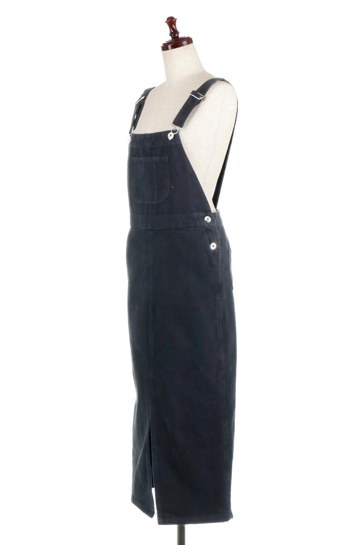 SemiTightJumperDressセミタイト・ジャンパースカート大人カジュアルに最適な海外ファッションのothers(その他インポートアイテム)のワンピースやマキシワンピース。ワークテイストのロング丈ジャンパースカート。セミタイトのシルエットでガーリーになりすぎない大人っぽいコーデが楽しめます。/main-11