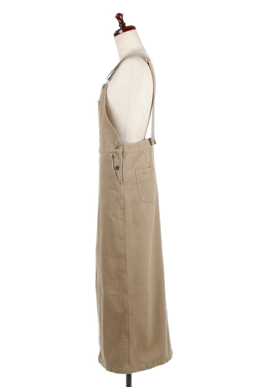 SemiTightJumperDressセミタイト・ジャンパースカート大人カジュアルに最適な海外ファッションのothers(その他インポートアイテム)のワンピースやマキシワンピース。ワークテイストのロング丈ジャンパースカート。セミタイトのシルエットでガーリーになりすぎない大人っぽいコーデが楽しめます。/main-2