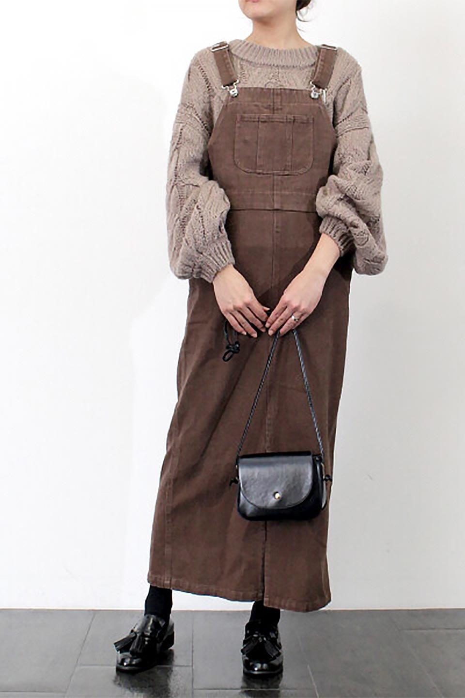 SemiTightJumperDressセミタイト・ジャンパースカート大人カジュアルに最適な海外ファッションのothers(その他インポートアイテム)のワンピースやマキシワンピース。ワークテイストのロング丈ジャンパースカート。セミタイトのシルエットでガーリーになりすぎない大人っぽいコーデが楽しめます。/main-25