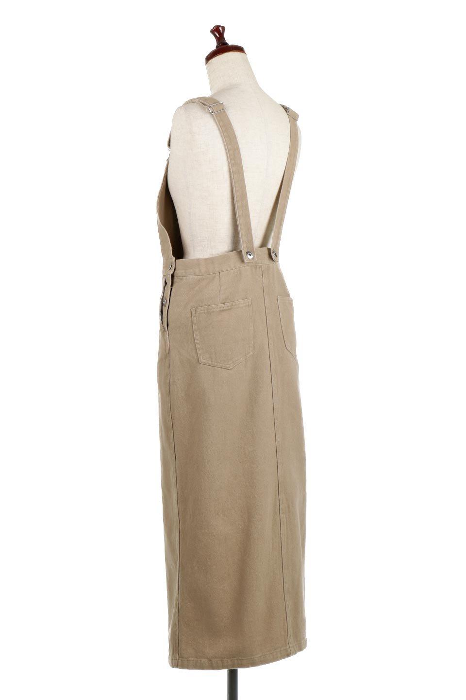 SemiTightJumperDressセミタイト・ジャンパースカート大人カジュアルに最適な海外ファッションのothers(その他インポートアイテム)のワンピースやマキシワンピース。ワークテイストのロング丈ジャンパースカート。セミタイトのシルエットでガーリーになりすぎない大人っぽいコーデが楽しめます。/main-3