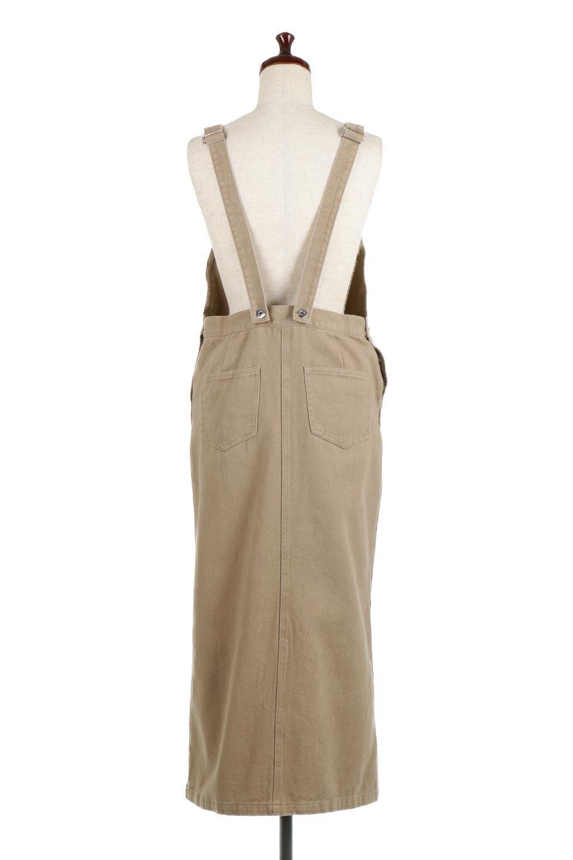 SemiTightJumperDressセミタイト・ジャンパースカート大人カジュアルに最適な海外ファッションのothers(その他インポートアイテム)のワンピースやマキシワンピース。ワークテイストのロング丈ジャンパースカート。セミタイトのシルエットでガーリーになりすぎない大人っぽいコーデが楽しめます。/main-4
