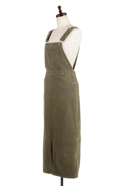 SemiTightJumperDressセミタイト・ジャンパースカート大人カジュアルに最適な海外ファッションのothers(その他インポートアイテム)のワンピースやマキシワンピース。ワークテイストのロング丈ジャンパースカート。セミタイトのシルエットでガーリーになりすぎない大人っぽいコーデが楽しめます。/main-6