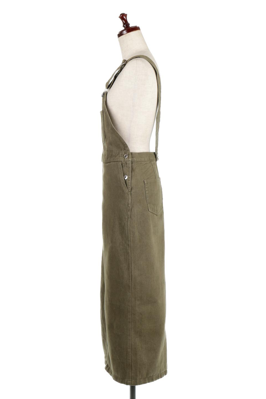 SemiTightJumperDressセミタイト・ジャンパースカート大人カジュアルに最適な海外ファッションのothers(その他インポートアイテム)のワンピースやマキシワンピース。ワークテイストのロング丈ジャンパースカート。セミタイトのシルエットでガーリーになりすぎない大人っぽいコーデが楽しめます。/main-7