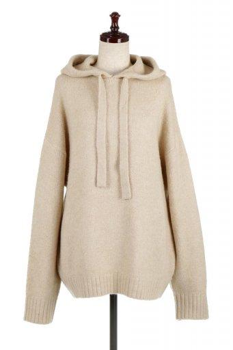 Soft Knit Big Parka もちもちニット・ビッグパーカー / 大人カジュアルに最適な海外ファッションが得意な福島市のセレクトショップbloom