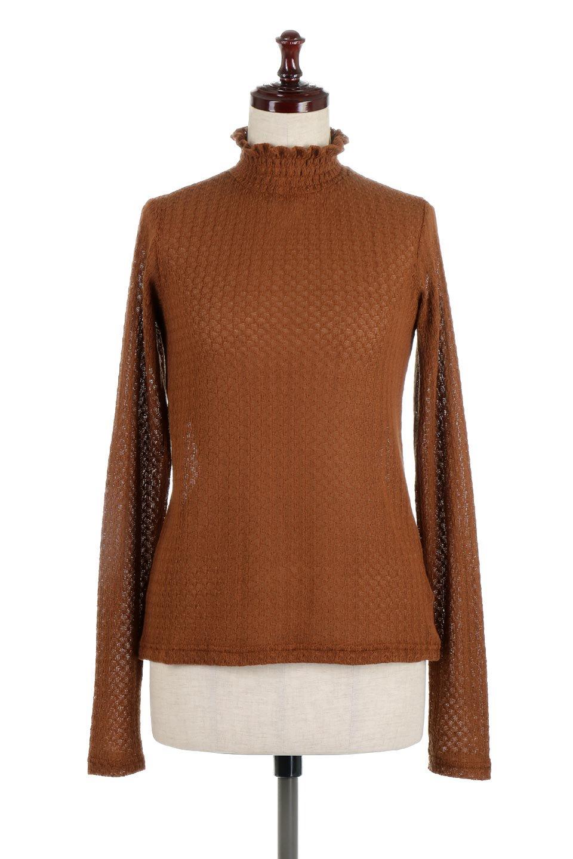 LaceHighNeckTop模様編み・ハイネックトップス大人カジュアルに最適な海外ファッションのothers(その他インポートアイテム)のトップスやカットソー。大人っぽい着こなしができる模様編みのハイネックトップス。ストレッチ性のある生地で動きやすさも抜群です。/main-10