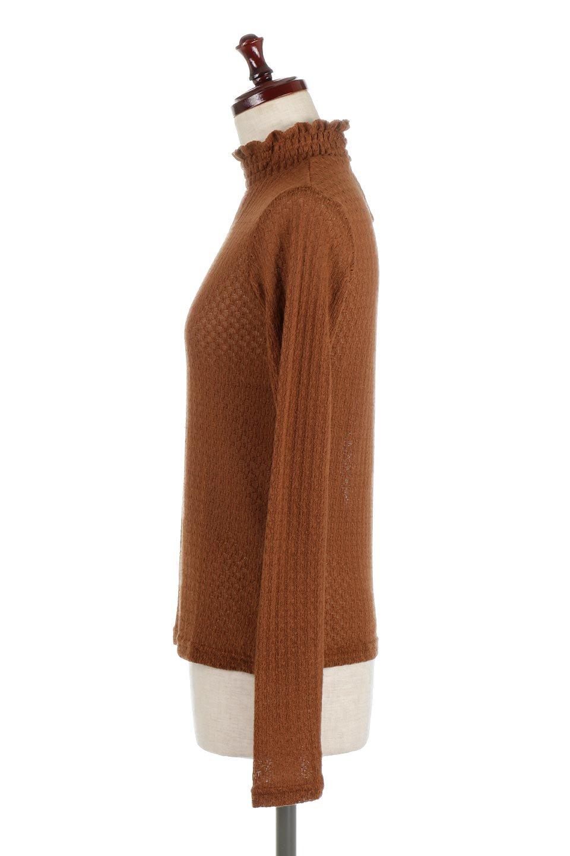 LaceHighNeckTop模様編み・ハイネックトップス大人カジュアルに最適な海外ファッションのothers(その他インポートアイテム)のトップスやカットソー。大人っぽい着こなしができる模様編みのハイネックトップス。ストレッチ性のある生地で動きやすさも抜群です。/main-12