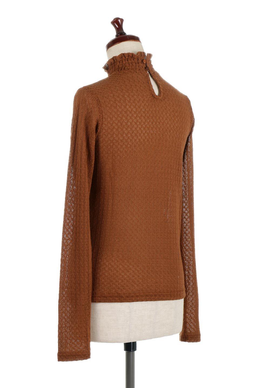 LaceHighNeckTop模様編み・ハイネックトップス大人カジュアルに最適な海外ファッションのothers(その他インポートアイテム)のトップスやカットソー。大人っぽい着こなしができる模様編みのハイネックトップス。ストレッチ性のある生地で動きやすさも抜群です。/main-13