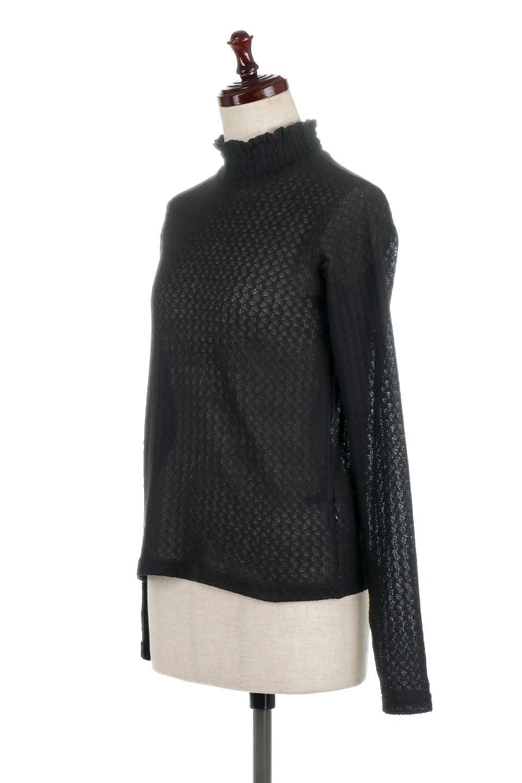 LaceHighNeckTop模様編み・ハイネックトップス大人カジュアルに最適な海外ファッションのothers(その他インポートアイテム)のトップスやカットソー。大人っぽい着こなしができる模様編みのハイネックトップス。ストレッチ性のある生地で動きやすさも抜群です。/main-16