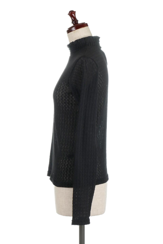 LaceHighNeckTop模様編み・ハイネックトップス大人カジュアルに最適な海外ファッションのothers(その他インポートアイテム)のトップスやカットソー。大人っぽい着こなしができる模様編みのハイネックトップス。ストレッチ性のある生地で動きやすさも抜群です。/main-17