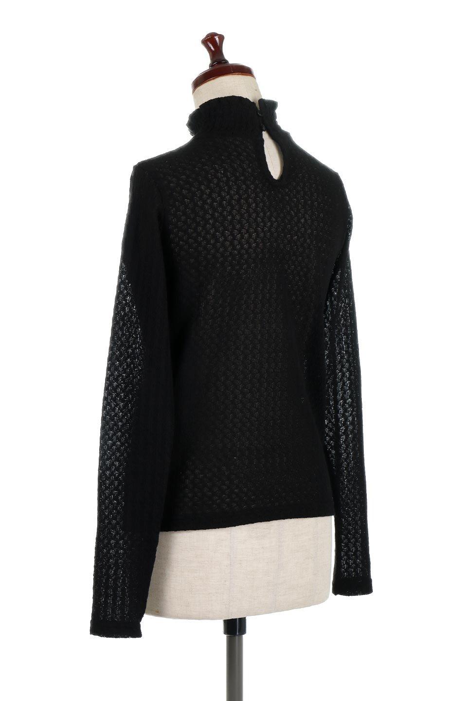 LaceHighNeckTop模様編み・ハイネックトップス大人カジュアルに最適な海外ファッションのothers(その他インポートアイテム)のトップスやカットソー。大人っぽい着こなしができる模様編みのハイネックトップス。ストレッチ性のある生地で動きやすさも抜群です。/main-18