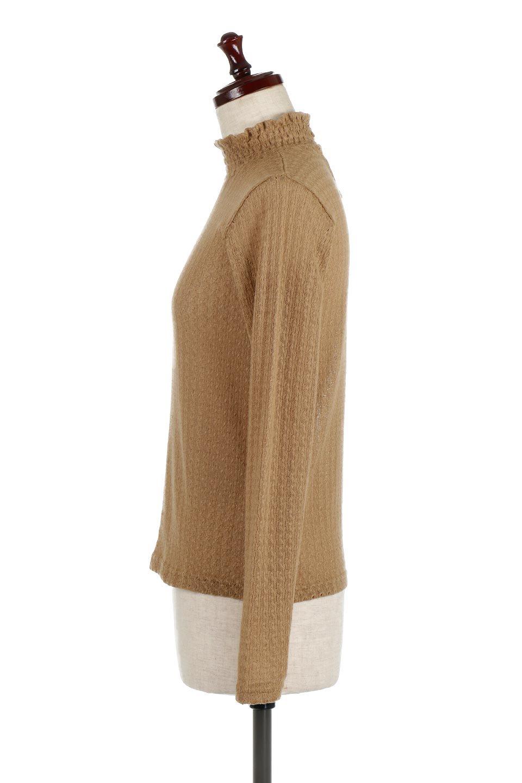 LaceHighNeckTop模様編み・ハイネックトップス大人カジュアルに最適な海外ファッションのothers(その他インポートアイテム)のトップスやカットソー。大人っぽい着こなしができる模様編みのハイネックトップス。ストレッチ性のある生地で動きやすさも抜群です。/main-2