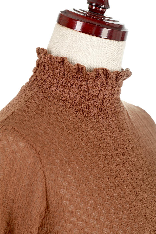 LaceHighNeckTop模様編み・ハイネックトップス大人カジュアルに最適な海外ファッションのothers(その他インポートアイテム)のトップスやカットソー。大人っぽい着こなしができる模様編みのハイネックトップス。ストレッチ性のある生地で動きやすさも抜群です。/main-20
