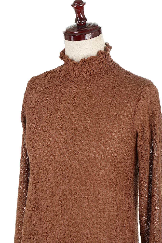 LaceHighNeckTop模様編み・ハイネックトップス大人カジュアルに最適な海外ファッションのothers(その他インポートアイテム)のトップスやカットソー。大人っぽい着こなしができる模様編みのハイネックトップス。ストレッチ性のある生地で動きやすさも抜群です。/main-21