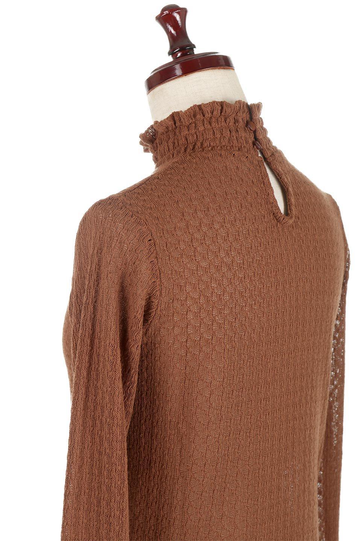 LaceHighNeckTop模様編み・ハイネックトップス大人カジュアルに最適な海外ファッションのothers(その他インポートアイテム)のトップスやカットソー。大人っぽい着こなしができる模様編みのハイネックトップス。ストレッチ性のある生地で動きやすさも抜群です。/main-22