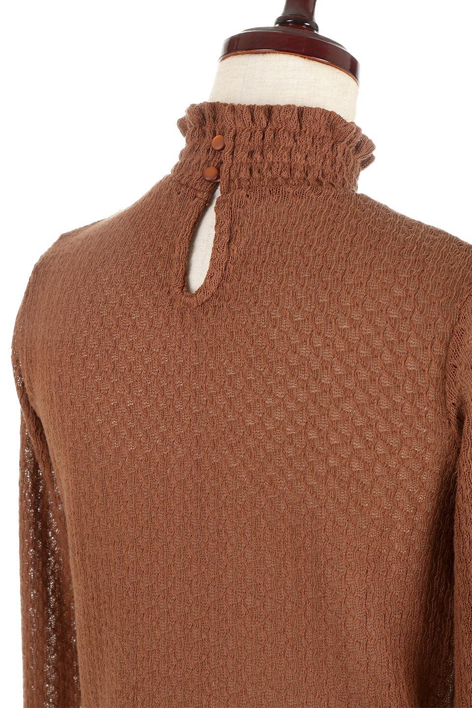 LaceHighNeckTop模様編み・ハイネックトップス大人カジュアルに最適な海外ファッションのothers(その他インポートアイテム)のトップスやカットソー。大人っぽい着こなしができる模様編みのハイネックトップス。ストレッチ性のある生地で動きやすさも抜群です。/main-23