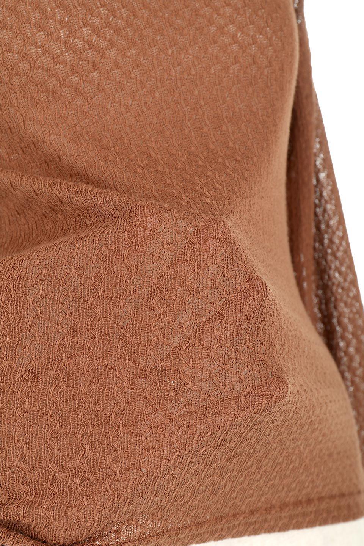 LaceHighNeckTop模様編み・ハイネックトップス大人カジュアルに最適な海外ファッションのothers(その他インポートアイテム)のトップスやカットソー。大人っぽい着こなしができる模様編みのハイネックトップス。ストレッチ性のある生地で動きやすさも抜群です。/main-26