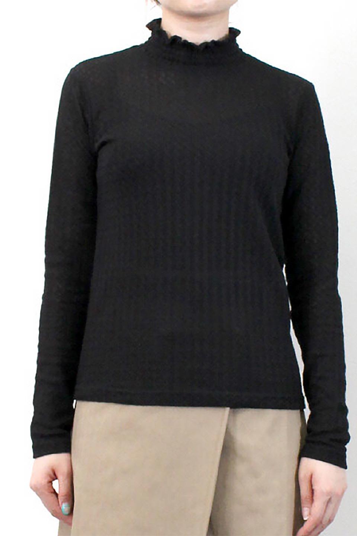 LaceHighNeckTop模様編み・ハイネックトップス大人カジュアルに最適な海外ファッションのothers(その他インポートアイテム)のトップスやカットソー。大人っぽい着こなしができる模様編みのハイネックトップス。ストレッチ性のある生地で動きやすさも抜群です。/main-28