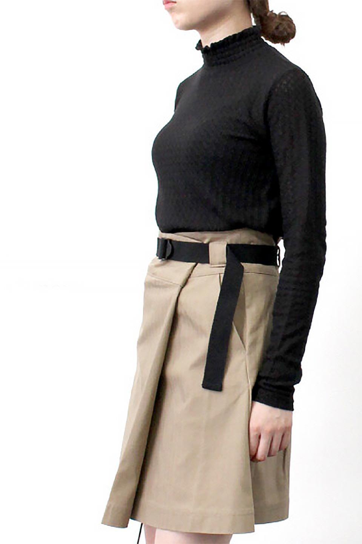 LaceHighNeckTop模様編み・ハイネックトップス大人カジュアルに最適な海外ファッションのothers(その他インポートアイテム)のトップスやカットソー。大人っぽい着こなしができる模様編みのハイネックトップス。ストレッチ性のある生地で動きやすさも抜群です。/main-30
