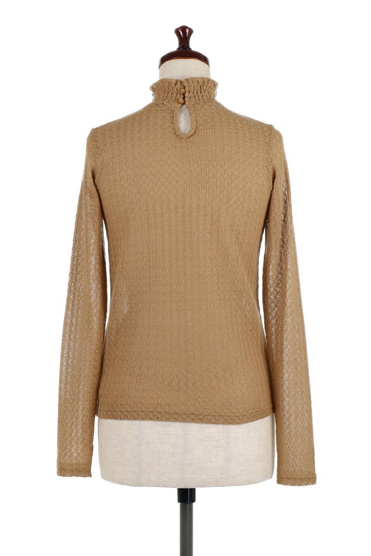 LaceHighNeckTop模様編み・ハイネックトップス大人カジュアルに最適な海外ファッションのothers(その他インポートアイテム)のトップスやカットソー。大人っぽい着こなしができる模様編みのハイネックトップス。ストレッチ性のある生地で動きやすさも抜群です。/main-4